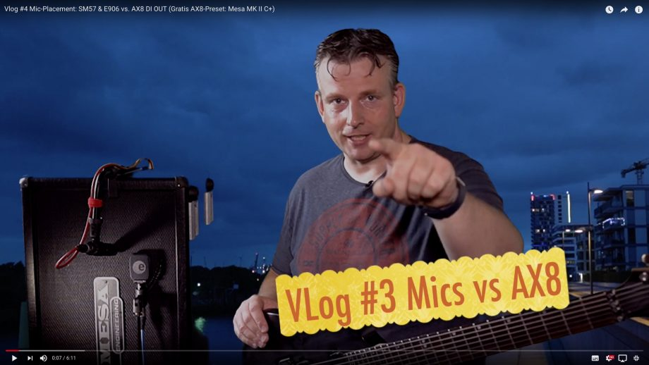 Vlog #4 Mic-Placement: SM57 & E906 vs. Frachtal Audio AX8 DI OUT (Gratis AX8-Preset: Mesa Boogie MK II C+)