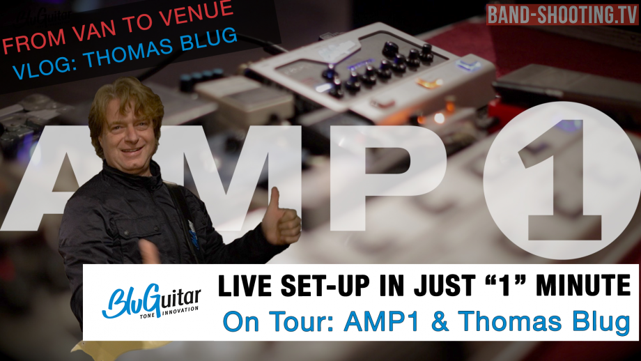 BluGuitar AMP1 – from Road to Rock in just 1 minute!  Quickest Tube-Amp Live Set-Up with Thomas Blug